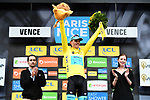Race leader Luis Leon Sanchez (ESP) Astana Pro Team retains the Yellow Jersey at the end of Stage 6 running 198km from Sisteron to Vence, France. 9th March 2018.<br /> Picture: ASO/Alex Broadway | Cyclefile<br /> <br /> <br /> All photos usage must carry mandatory copyright credit (&copy; Cyclefile | ASO/Alex Broadway)