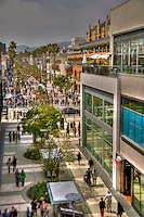 Third Street Promenade, Santa Monica Place, Santa Monica, CA, open-air design, shopping mall