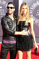 LOS ANGELES, CA, USA - AUGUST 24: Adam Levine, Behati Prinsloo at the 2014 MTV Video Music Awards held at The Forum on August 24, 2014 in the Los Angeles, California, United States. (Photo by Xavier Collin/Celebrity Monitor)