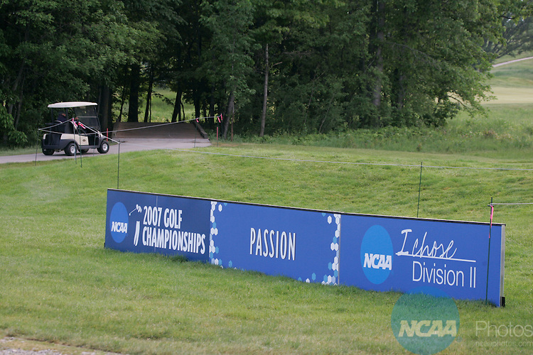 25 MAY 2007:  Golfers compete during the Division II Men's Golf Championship held at The Meadows in Allendale, MI.  Barry won the national title over South Carolina Upstate by one stroke.  John Lacko/NCAA Photos