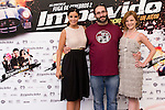 24.07.2012. Presentation at the Madrid Film Academy of the movie 'Impavido´, directed by Carlos Theron and starring by Marta Torne, Selu Nieto, Nacho Vidal, Carolina Bona, Julian Villagran and Manolo Solo. In the image Marta Torne (L),  Carlos Theron (C) and Carolina Bona (R). (Alterphotos/Marta Gonzalez)