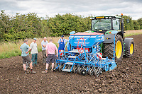 Lemken Solitair 8 drill being demonstrated to farmers - Lincolnshire, July