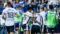 Bolton Wanderers' Adam Le Fondre celebrates scoring his side's first goal with his team mates<br /> <br /> Photographer Andrew Kearns/CameraSport<br /> <br /> The EFL Sky Bet Championship - Bolton Wanderers v Nottingham Forest - Sunday 6th May 2018 - Macron Stadium - Bolton<br /> <br /> World Copyright &copy; 2018 CameraSport. All rights reserved. 43 Linden Ave. Countesthorpe. Leicester. England. LE8 5PG - Tel: +44 (0) 116 277 4147 - admin@camerasport.com - www.camerasport.com