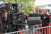 Participant competes during the forklift driving skill competition in Budapest, Hungary on May 16, 2019. ATTILA VOLGYI