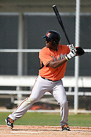 Outfielder Andrickson Zorrilla (60) of the Baltimore Orioles organization during a minor league spring training camp day game on March 23, 2014 at Buck O'Neil Complex in Sarasota, Florida.  (Mike Janes/Four Seam Images)