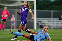 Piscataway, NJ - Wednesday Sept. 07, 2016: Alex Morgan, Kristin Grubka during a regular season National Women's Soccer League (NWSL) match between Sky Blue FC and the Orlando Pride FC at Yurcak Field.
