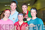 SWIMMERS: Young members of the Kingdom Swimming Club who swam in the Annual Swimming Gala, in Tralee Sport and Leisure Centre on Saturday were l-r: Kate Magowan, James Hanafin, Katie O'Riordan, Chris Rogers and Sarah Counihan.   Copyright Kerry's Eye 2008