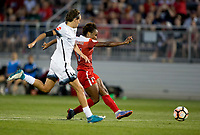 Boyds, MD. - Saturday, June 24 2017:  Emily Menges, Francisca Ordega during a regular season National Women's Soccer League (NWSL) match between the Washington Spirit and the Portland Thorns FC at Maureen Hendricks Field, Maryland SoccerPlex.<br />  The Washington Spirit defeated the Portland Thorns FC 1-0.