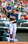 17 March 2009: Atlanta Braves' infielder Casey Kotchman in action during a Spring Training game against the New York Mets at Disney's Wide World of Sports in Orlando, Florida. The Braves defeated the Mets 5-1 in the Saint Patrick's Day Grapefruit League matchup. Mandatory Photo Credit: Ed Wolfstein Photo
