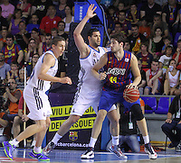 16.06.2013 Barcelona, Spain. Liga Endesa . Playoff game 4 Picture show ANte Tomic in action during game between FC Barcelona against Real Madrid at Palau Blaugrana