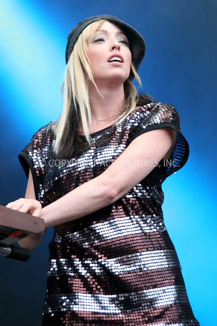 WWW.ACEPIXS.COM . . . . .  ..... . . . . US SALES ONLY . . . . .....August 23 2009, Staffordshire, England....The Ting Tings live at the V Festival in Staffordshire on August 23 2009 in Staffordshire, England....Please byline: FAMOUS-ACE PICTURES... . . . .  ....Ace Pictures, Inc:  ..tel: (212) 243 8787 or (646) 769 0430..e-mail: info@acepixs.com..web: http://www.acepixs.com