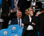 Sir Alex Ferguson takes a seat in the directors box during the Premier League match at the Eithad Stadium, Manchester. Picture date 21st August 2017. Picture credit should read: Simon Bellis/Sportimage
