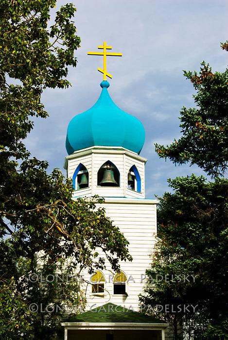 Russian Orthodox Church in downtown  Kodiak Island, Alaska