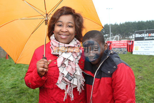 Folake and Femi Fanifosi at the Turning of the First Sod for the New Clubhouse for Drogheda Town Football Club at Marion Park...(Photo credit should read Jenny Matthews/NEWSFILE)...