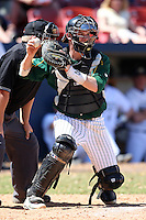 March 14, 2010:  Catcher Tyler Steen (12) of North Dakota State University Bison vs. Akron University at Chain of Lakes Park in Winter Haven, FL.  Photo By Mike Janes/Four Seam Images