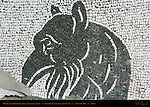 Mythical Creature detail Baths of Caracalla East Palaestra (Greek Wrestling Room) Mosaic Aventine Hill Rome