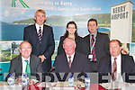 AGM: The top table at the Kerry Airport AGM at the Earl of Desmond Hotel, Tralee, on Wednesday. Front l-r: John OSullivan (co secretary), Liam Chute (vice chairman) and.Peter Moore (airport manager). Back l-r: Denis Murphy (Moriarty & Murphy Auditors), Lorna Larkin (Downing, Courtney and Larkin Solicitors) and Basil Sheerin (accountant).