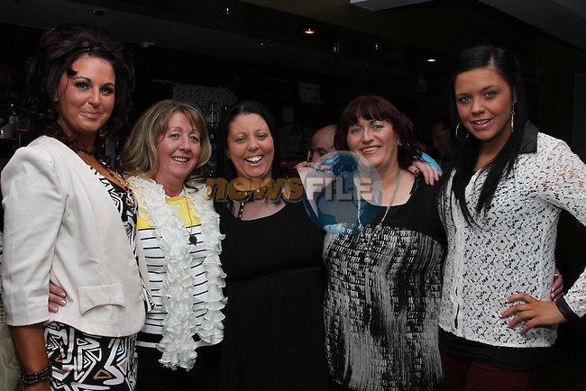 Jenny Clinton, Christina Clinton, Christine Dyas, Orla Fitzpatrick and Tracey McDonagh in the Trinity Arms...(Photo credit should read Jenny Matthews/NEWSFILE)...