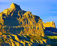 Summer Sunset at Scotts Bluff Cliffs,  Oregon, California & Mormon Pioneer Trails, Scotts Bluff National Monument, Nebraska