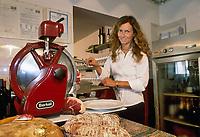 - Italian food , typical kitchen of the Emilia region, restaurant &quot;Da Ivan&quot; in Roccabianca (Parma), Barbara Aimi, wife of the owner<br /> <br /> - Cibo italiano, cucina tipica della regione Emilia, ristorante &quot;Da Ivan&quot; di Roccabianca (Parma), Barbara Aimi, moglie del titolare