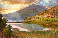 Dalyan Çay River delta . Mediterranean coast Turkey