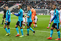 Fleetwood Town's players take to the pitch<br /> <br /> Photographer Andrew Kearns/CameraSport<br /> <br /> The EFL Sky Bet League One - Milton Keynes Dons v Fleetwood Town - Saturday 11th November 2017 - Stadium MK - Milton Keynes<br /> <br /> World Copyright &copy; 2017 CameraSport. All rights reserved. 43 Linden Ave. Countesthorpe. Leicester. England. LE8 5PG - Tel: +44 (0) 116 277 4147 - admin@camerasport.com - www.camerasport.com