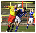 27th April 2001   Copyright Pic : James Stewart .Ref :                           .File Name : stewart03-albion rovers v cowdenbeath.TOM TAIT HEADS CLEAR FROM KEITH WRIGHT.....James Stewart Photo Agency, Stewart House, Stewart Road, Falkirk. FK2 7AS      Vat Reg No. 607 6932 25.Office : +44 (0) 1324 630007     Mobile : 07721 416997.Fax     :  +44 (0) 1324 630007.E-mail : jim@jspa.co.uk.If you require further information then contact Jim Stewart on any of the numbers above.........