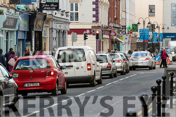 New traffic lights at the Junction of Castle Street and Denny Street, Tralee.