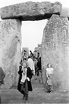 Revellers at Stonehenge on summer solstice 1981.