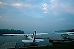 Float planes on Rangeley Lake, Rangeley, Maine, USA