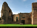 Baths of Caracalla Perimeter Nymphaeum Mithraeum Entrance Aventine Hill Rome