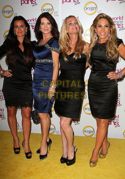"KYLE RICHARDS, KYLE RICHARDS,  KIM RICHARDS & ADRIENNE MALOOF.""The World According To Paris"" Series Premiere Party  Held At The Roosevelt Hotel, Hollywood, California, USA, .17th May 2011..full length black dress shoes  navy blue  real housewives .CAP/ADM/KB.©Kevan Brooks/AdMedia/Capital Pictures."