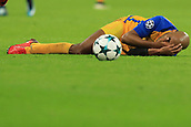 6th December 2017, Wembley Stadium, London England; UEFA Champions League football, Tottenham Hotspur versus Apoel Nicosia; Carlão of Apoel FC goes down injured
