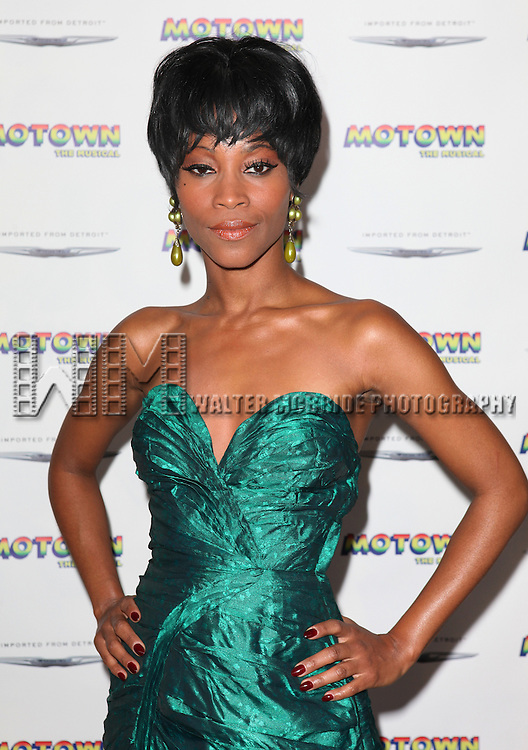 Valisia LeKae attending the Broadway World Premiere Launch for 'Motown: The Musical' at the Nederlander in New York. Sept. 27, 2012