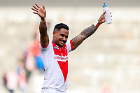 Picture by Alex Whitehead/SWpix.com - 30/03/2018 - Rugby League - Betfred Super League - St Helens v Wigan Warriors - Totally Wicked Stadium, St Helens, England - St Helens' Ben Barba celebrates the win.