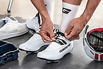 European Time Trial Champion Victor Campenaerts (BEL) is the new UCI Hour Record holder after covering 55,089 km, beating Bradley Wiggins record by 563 metres. Victor wearing Gaerne shoes and socks. Aguascalientes, Mexico. 16th April 2019.<br /> Picture: Ridley Bikes | Cyclefile<br /> <br /> All photos usage must carry mandatory copyright credit (&copy; Cyclefile | Ridley Bikes)