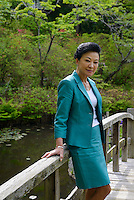 Chieko Hasegawa, Executive Vice President of the Nichido Museum of Art at the Shunpu Banri So, Kasama city, Ibaraki, Japan, May 10, 2013.