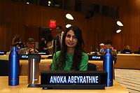 NOVA YORK, EUA, 05.02.2019 - ONU-NOVA YORK - Anoka Abeyrathne durante encontro para falar sobre a comida no mundo na Sede da Onu em Nova York nesta terça-feira, 05.  (Foto: Vanessa Carvalho/Brazil Photo Press)