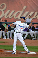 Cody Bellinger (16) of the Ogden Raptors in action against the Grand Junction Rockies during Opening Night of the Pioneer League Season on June 16, 2014 at Lindquist Field in Ogden, Utah. (Stephen Smith/Four Seam Images)