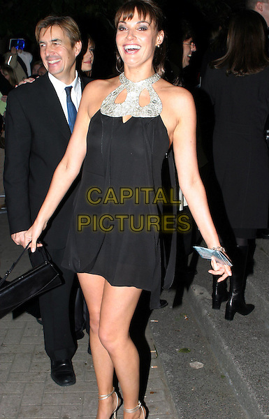 SARAH PARISH.National Television Awards, Royal Albert Hall.little black dress, sixties style.www.capitalpictures.com.sales@capitalpictures.com.© Capital Pictures.