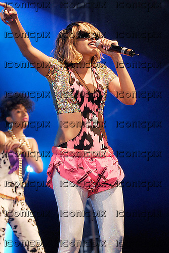 M.I.A. (born Mathangi Arulpragasam) - performing live on Day Two at the BBC Radio 1 Big Weekend in Moor Park, Preston, Lancashire, UK - 19 May 2007.  Photo credit: George Chin/IconicPix