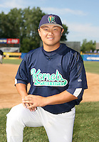 Hank Conger of the Cedar Rapids Kernals during the Midwest League All-Star game.  Photo by:  Mike Janes/Four Seam Images