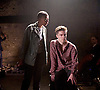 Carmen Disruption <br /> at Almeida Theatre, London, Great Britain <br /> press photocall<br /> 16th April 2015 <br /> <br /> Jack Farthing as Carmen <br /> <br /> Noma Dumezweni as Don Jose <br /> <br /> <br /> <br /> <br /> Photograph by Elliott Franks <br /> Image licensed to Elliott Franks Photography Services