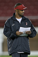 """9 February 2007: Willie Taggart during a """"Friday Night Lights"""" practice at Stanford Stadium in Stanford, CA."""