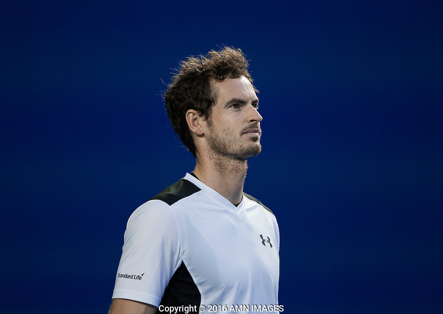 ANDY MURRAY (GBR)<br /> <br /> TENNIS - GRAND SLAM ITF / ATP  / WTA - Australian Open -  Melbourne Park - Melbourne - Victoria - Australia  - 29 January 2016<br /> <br /> &copy; AMN IMAGES