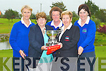 LADY GOLFERS: At Ardfert Golf Club on Sunday the Ardfert Ladies Golfers pictured with the Munster Cup which they won last weekend. L-r: Margaret Murphy, Rebecca McCarthy (Lady President), Philomena Stack, Kathryn Kearns (Lady Captain) and Mary Savage.