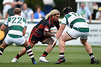 Richard Hibbard of the Dragons in possession. Pre-season friendly match, between Ealing Trailfinders and the Dragons on August 11, 2018 at the Trailfinders Sports Ground in London, England. Photo by: Patrick Khachfe / Onside Images