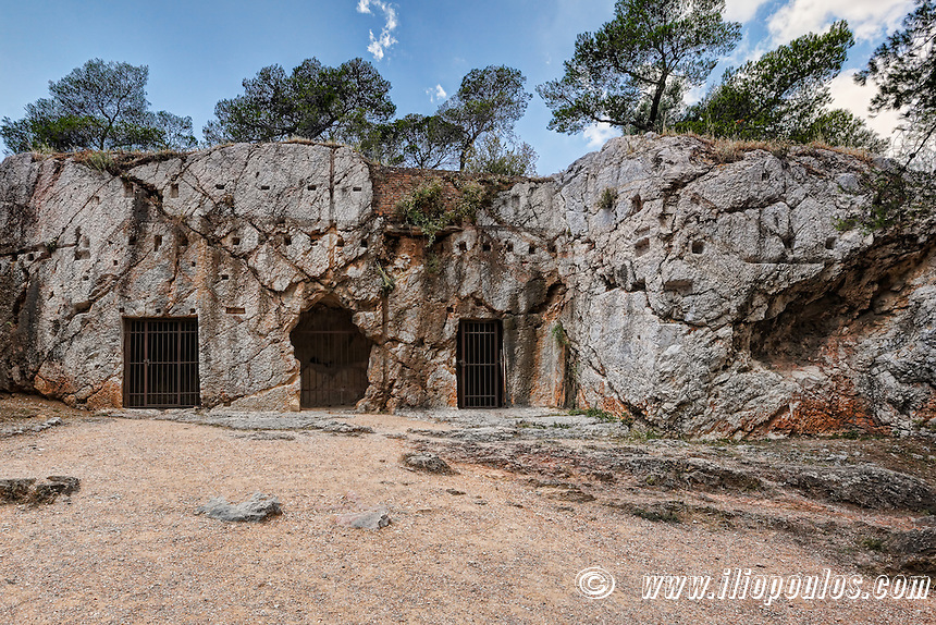 The Prison of Socrates near Acropolis, Greece