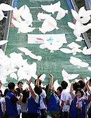 July 6th 2011, PYEONGCHANG, South Korea; South Koreans cheer in support of Pyeongchang's bid for the 2018 Winter Olympics; South Korea's Pyeongchang is bidding to host the Winter Olympics Games for the third time in a row Wednesday during the International Olympic Committee 123rd session in Durban