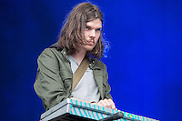 20th July 2014: Australian psychedelic rock band Tame Impala plays the Obelisk Arena on the fourth day of the 9th edition of the Latitude Festival, Henham Park, Suffolk.<br /> Picture by Stuart Hogben